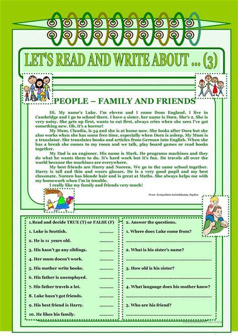 lets read  write   family  friends