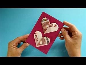 Geldgeschenke Verpacken Geldscheine Falten Herz YouTube