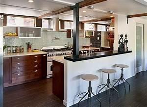 deco appartement cuisine ouverte With idee deco cuisine ouverte