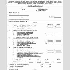 Child Support Worksheet Homeschooldressagecom