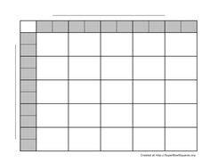 printable football squares grid visit  store
