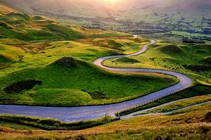 Bendy, curvy, windy road to Edale....at sunset | and that ...