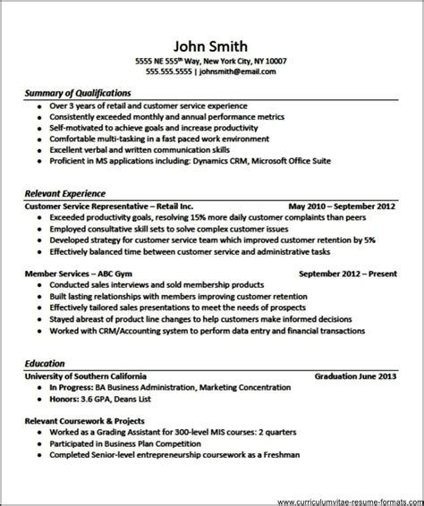 professional resume templates  experienced