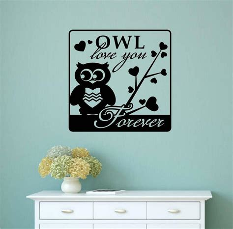 home decor sticker owl you forever vinyl decal wall sticker word letter