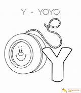 Yoyo Coloring Drawing Alphabet Letter Easy Pages Printable Sheet Country Getcolorings Through Drawings Getdrawings Paintingvalley sketch template