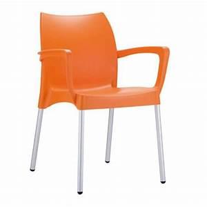 Fauteuil En Plastique : chaise de jardin empilable en plastique orange achat ~ Edinachiropracticcenter.com Idées de Décoration