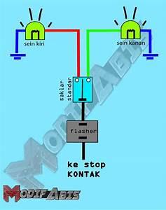 Cara Membuat Lampu Sein Motor Nyala Semua Seperti Mobil Lampu