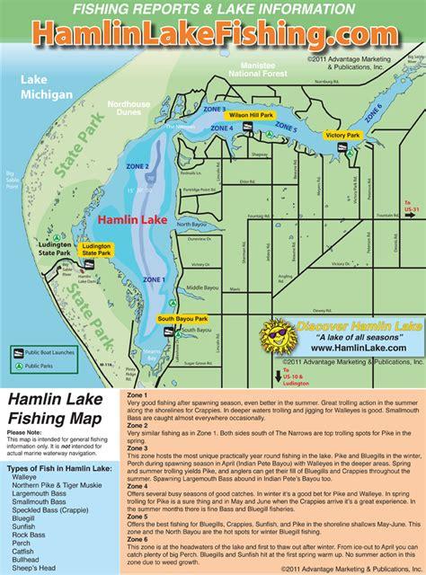Hamlin Lake Boat Launch visit ludington hamlin lake fishing map