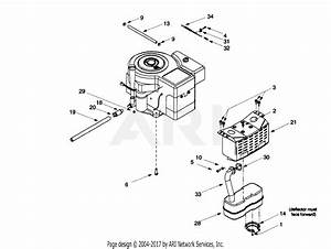 Mtd 13ax604g401  1999  Parts Diagram For Muffler  Engine