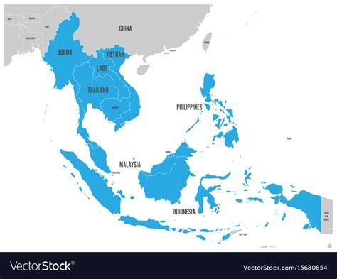 asean economic community aec map asean economic community aec map grey map with vector image asea
