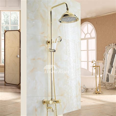 Bathroom Shower Fixtures by Bathroom Shower Fixtures Gold Polished Brass Wall Mount Luxury