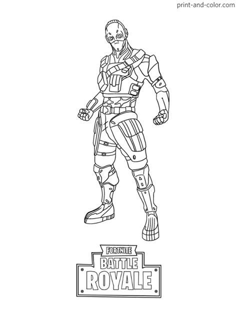 fortnite battle royale coloring page cobalt skin season