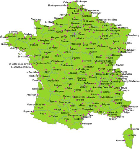 info france map cities  towns travel