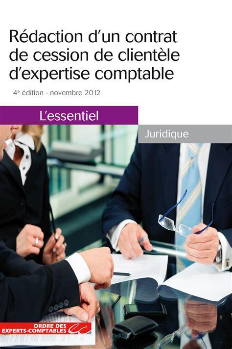r 233 daction d un contrat de cession de client 232 le d expertise comptable