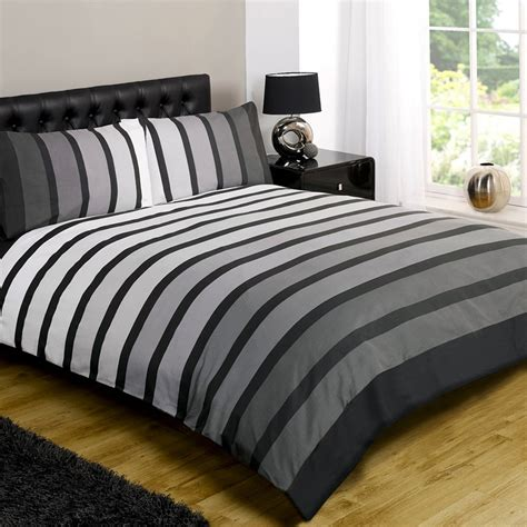 Black And White Striped Duvet Cover by Striped Poly Cotton Duvet Cover Modern Quilt Cover Bedding
