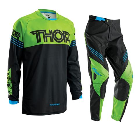 childrens motocross gear thor 2016 youth phase hyperion gear set green motocross