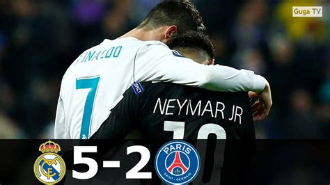 Real Madrid vs Paris Saint Germain 5-2 (agg) - Ronaldo vs ...
