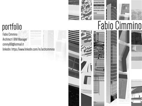12772 architecture cover page design portfolio architect bim manager by fabio cimmino issuu