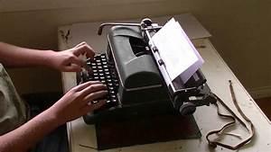 Speed Typing Test (Halda Star Typewriter)