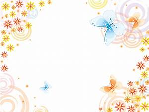 Butterflies with pink flowers Powerpoint Templates ...