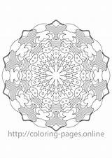 Coloring Mandala Complex Pages Line sketch template