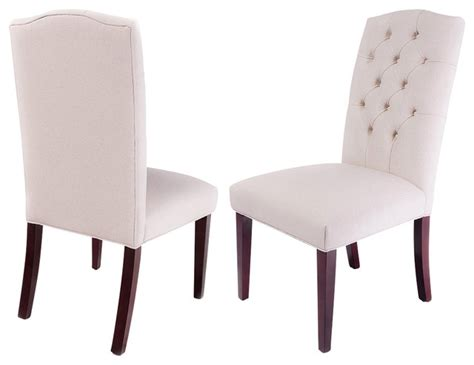 clark tufted back fabric dining chairs set of 2