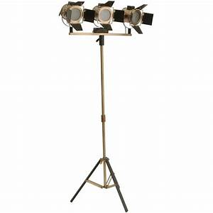 Buy libra triple two tone floor standing spotlight from for Floor standing spotlight lamp