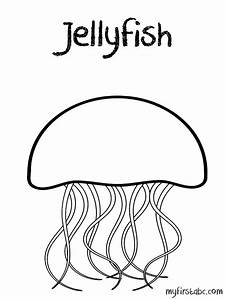 Free coloring pages of jellyfish for kids