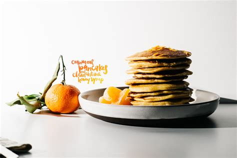 clementine cuisine crispy cornmeal pancakes with honey clementine syrup i