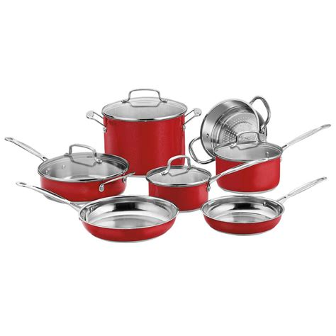 cuisinart cookware stainless chef piece classic steel css metallic lids pan sets kitchen series pc amazon chefs iron cast stick