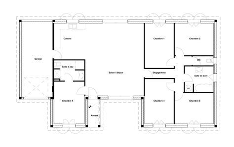 plan maison 3 chambres 1 bureau plan maison 1 chambre maison ossature bois plan natiming