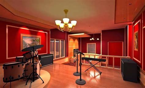 Desain studio musik ini didominasi warna natural coklat.…» Tips Desain Ruangan Musik yang Menarik | LINKCOLIDER