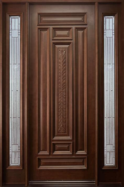 solid wood door front door custom single with 2 sidelites solid wood