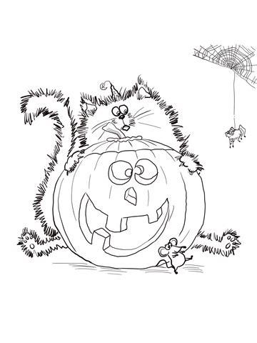 scaredy cat splat coloring page supercoloringcom