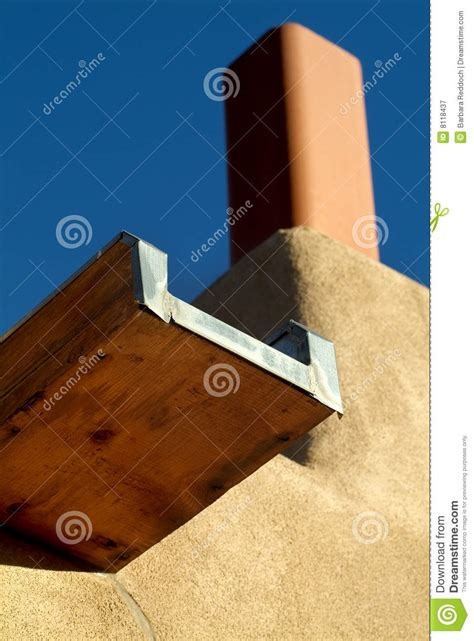 adobe style house plans southwestern style canale gutter drainage stock image