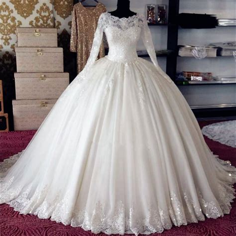 Xw20 Accents Crystals Beading Ball Gown Long Sleeve Lace