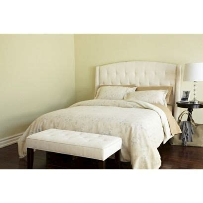 roma tufted wingback headboard oyster full queen