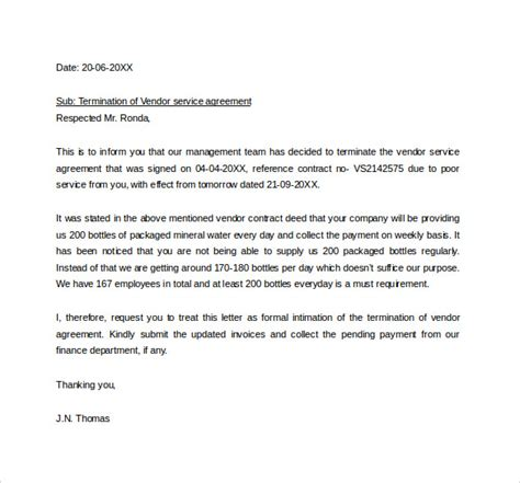 sample termination letter   documents   word
