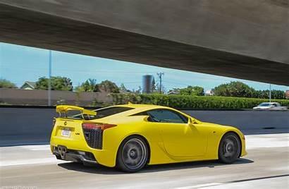 Lfa Lexus Sports Yellow Coupe Supercar Carbon