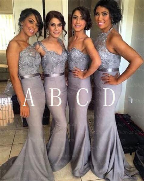 Silver bridesmaid dresses, grey bridesmaid dresses