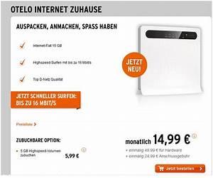 Otelo Internet Flat : otelo internet zuhause 15 gb internet f r 14 99 ~ Yasmunasinghe.com Haus und Dekorationen