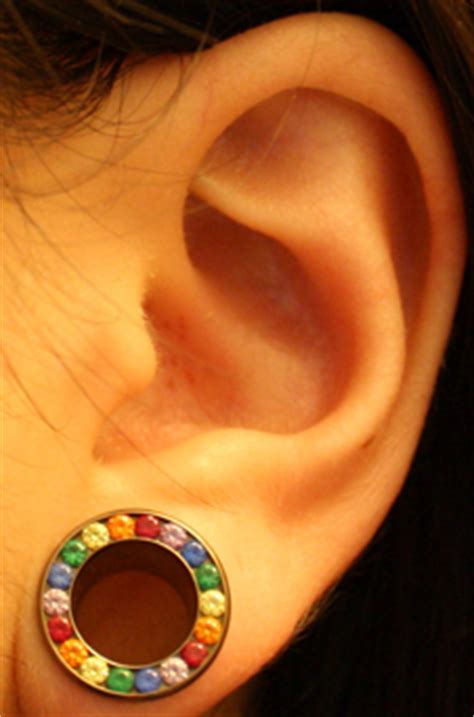awesome ear stretching pictures  images  men