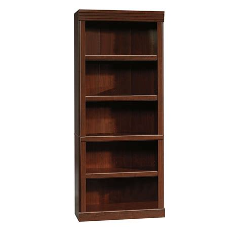 Bookcases Cherry Finish by Sauder 102795 Heritage Hill Library Open Bookcase In