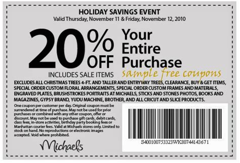 Michaels Canada Coupons December 2018