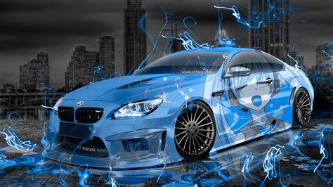 bmw  hamann tuning anime girl  aerography city car