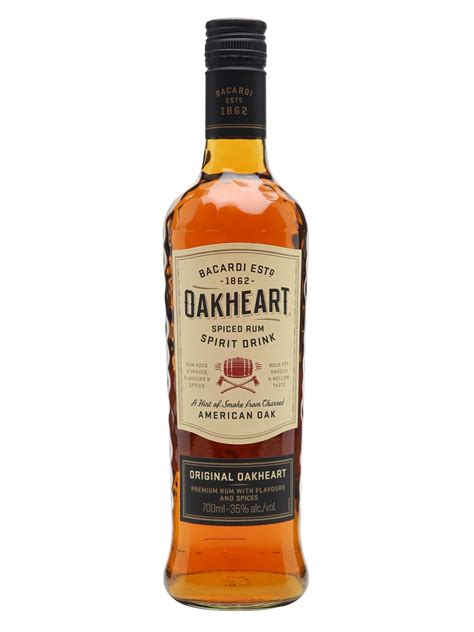 honey oak bacardi oakheart spiced rum spirit drink the whisky exchange