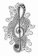 Zentangle Para Es Coloring Musique Adult Coloriage Colorear Desde Guardado sketch template
