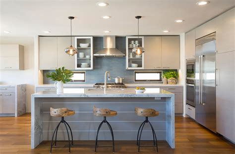 Contemporary Coastal Coronado  Contemporary Kitchen