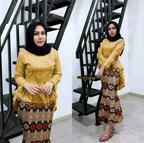 Kebaya Pengantin Wanita Duyung jual atasan brukat modern rok batik model baru setelan rok