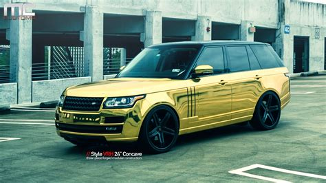 black and gold range rover mc customs gold land rover range rover vellano wheels